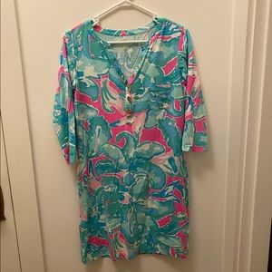Lilly Pulitzer T-shirt Dress in blue & pink